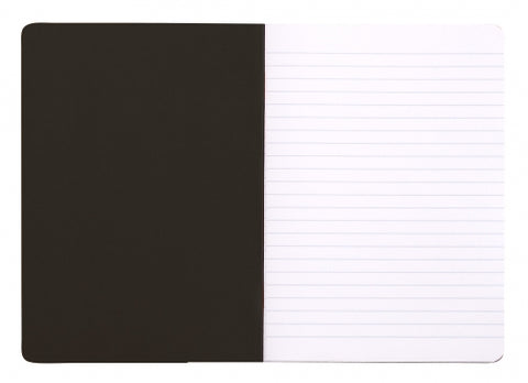 "Rhodia Classic Staplebound Notebook Black (6 x 8.25"") - Lined"