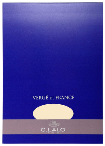 G. Lalo Vergé de France A4 Stationary Tablet - Ivory