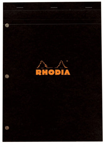 Rhodia No. 18 A4 3 Hole Punched Lined Staplebound Pad