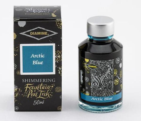 Diamine Shimmer Ink - Arctic Blue