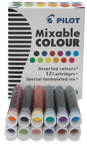 Pilot Parallel Ink Cartridges - Assorted Colors 12 Pack