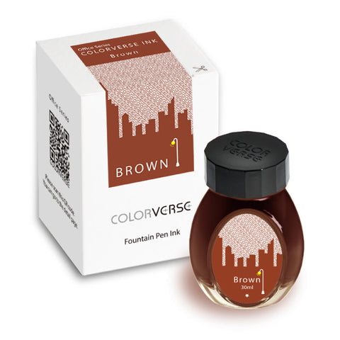 Colorverse Office Series - Brown (30 mL Bottled Ink)