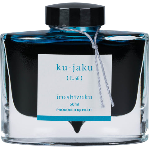Pilot Iroshizuku Ku-Jaku (Peacock Turquoise) 50ml Bottled Ink