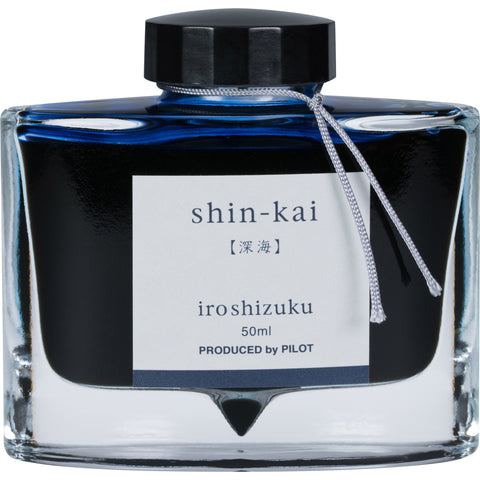 Pilot Iroshizuku Shin-Kai (Deep Sea Blue-Black) 50ml Bottled Ink