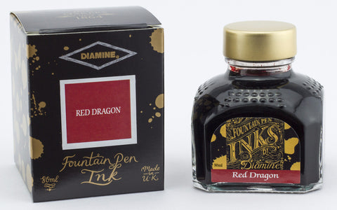 Diamine Red Dragon - Bottled Fountain Pen Ink