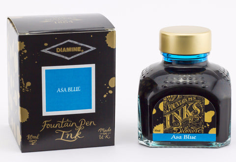 Diamine Asa Blue - Bottled Fountain Pen Ink