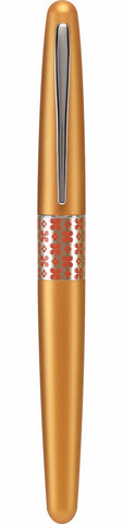 Pilot Retro Pop MR Metropolitan Fountain Pen - Orange / Flowers