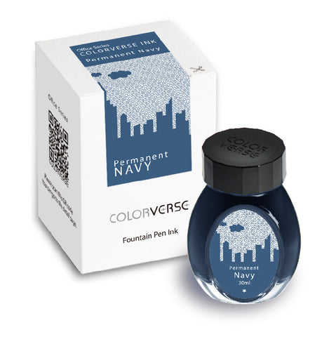 Colorverse Office Series - Permanent Navy (30 mL Bottled Ink)