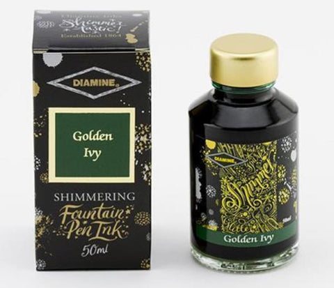 Diamine Shimmer Ink - Golden Ivy