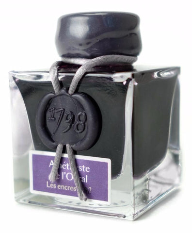 J. Herbin Amethyste de l'Oural (Ural Mountain Amethyst) - Shimmering Ink (50ml Bottle)