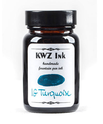 KWZ Iron Gall Turquoise (60 mL Bottled Ink)