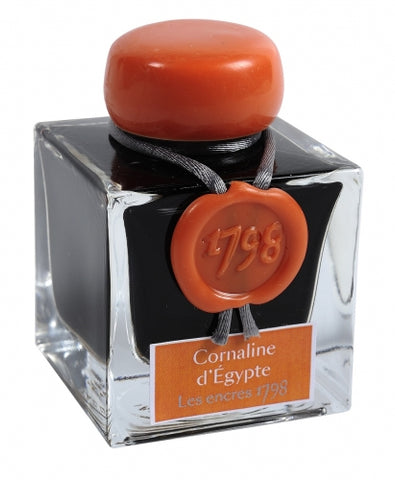 J. Herbin Cornaline d'Egypte - 1798 Collection Fountain Pen Ink (50ml Bottle)