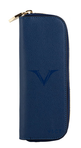 Visconti VSCT Leather 2 Pen Case - Blue