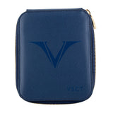 Visconti VSCT Leather 6 Pen Case - Blue