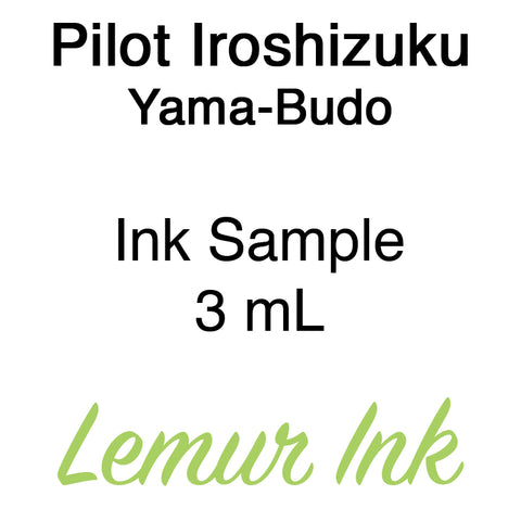 Pilot Iroshizuku Yama-Budo - Ink Sample