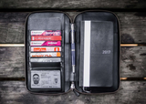 Galen Leather Zippered Hobonichi Weeks Cover - Black