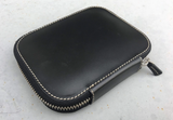 Galen Leather Zippered 10 Pen Case - Black