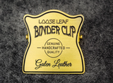 Galen Leather Brass Binder Clip