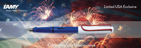 Lamy Safari USA Independence Special Edition Fountain Pen - Red/White/Blue
