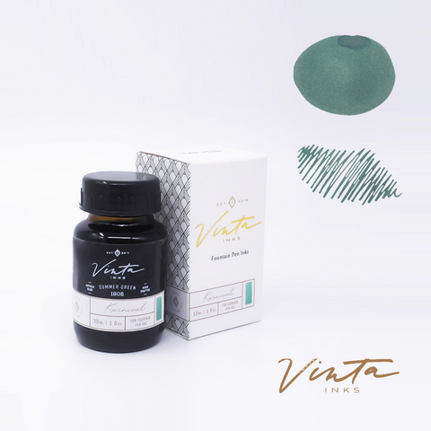 Vinta Inks Summer Green [Karnival 1908] - 30 mL bottled ink