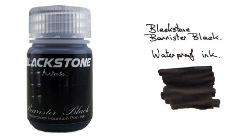 Blackstone Barrister Black Waterproof Ink (30ml Bottle)