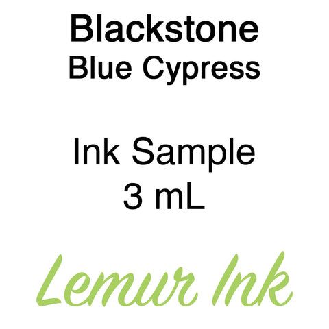 Blackstone Blue Cypress - Ink Sample