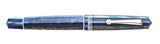 Leonardo Momento Zero Fountain Pen - Blue Hawaii - Rhodium Trim