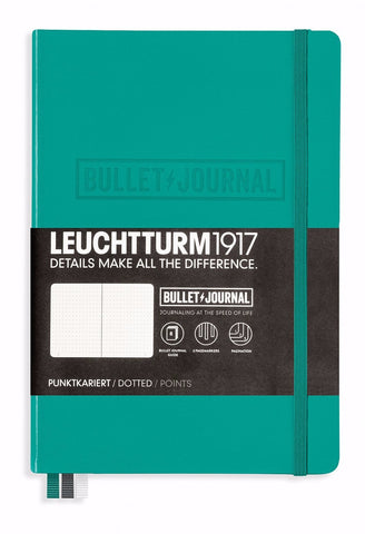 Leuchtturm1917 Medium (A5) Hardcover Bullet Journal Notebook (Dot Grid) - Emerald