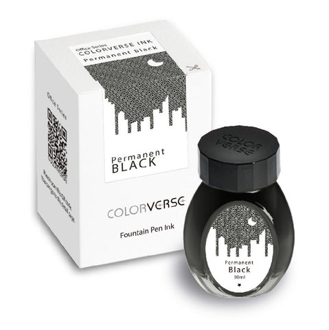 Colorverse Office Series - Permanent Black (30 mL Bottled Ink)