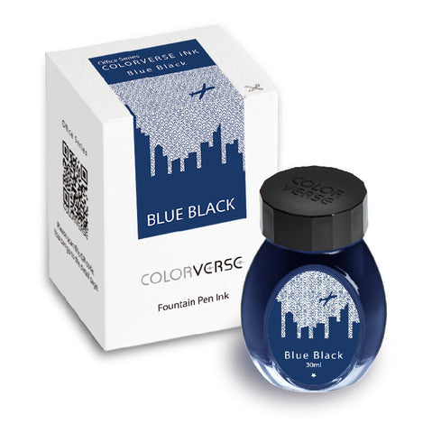 Colorverse Office Series - Blue-Black (30 mL Bottled Ink)