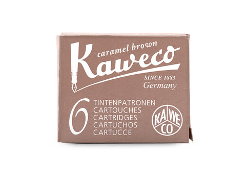 Kaweco Caramel Brown Ink Cartridges (6)