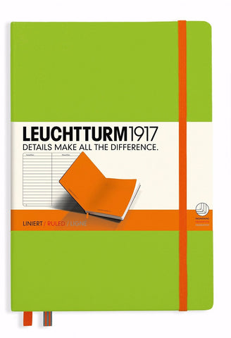 "Leuchtturm1917 Medium (A5) Hardcover Lined Notebook ""BiColore"" - Lime & Orange"