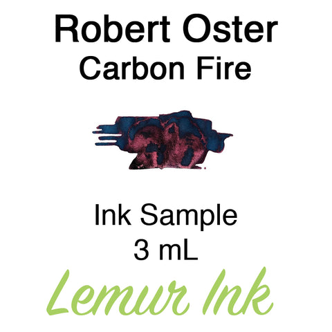 Robert Oster Carbon Fire - Ink Sample