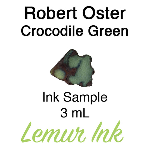 Robert Oster Crocodile Green - Ink Sample