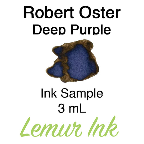 Robert Oster Deep Purple - Ink Sample