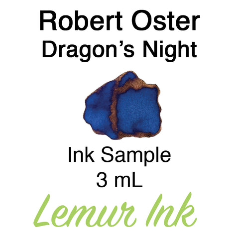 Robert Oster Dragon's Night - Ink Sample