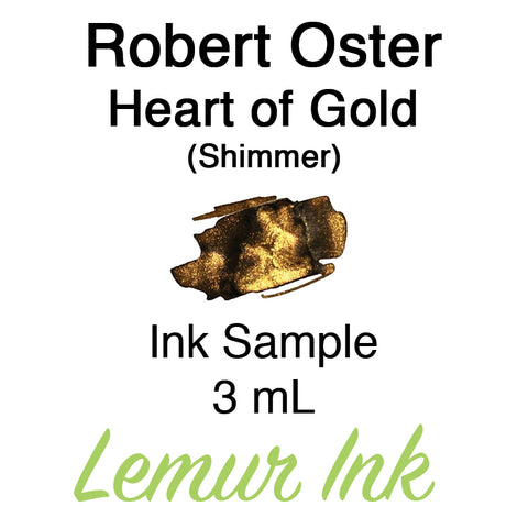 Robert Oster Heart of Gold (Shimmer) - Ink Sample