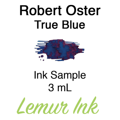 Robert Oster True Blue - Ink Sample