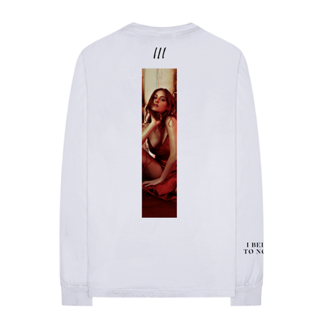 "WHITE ""I BELONG TO NO ONE"" LONGSLEEVE"