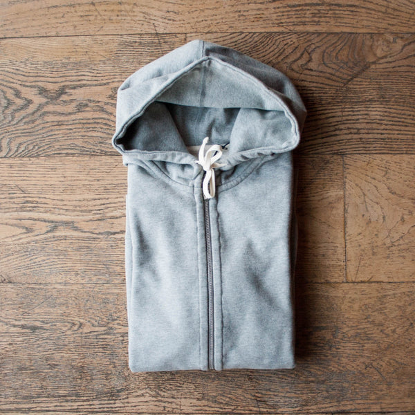 Midweight Zip Hoodie Heather Gray