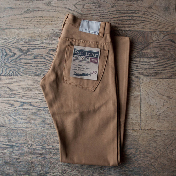 Flight Trousers Slim Fit Camel