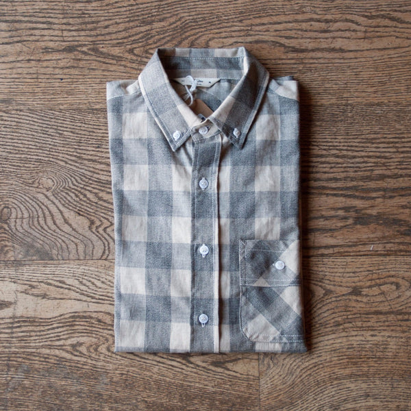 Short Sleeve Workshirt Grey Mock Twist