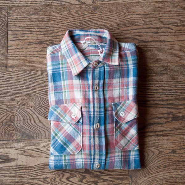 Crosscut Flannel Salmon Check