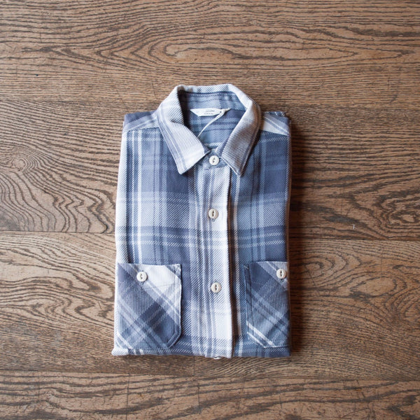 Flannel Workshirt Purple Check