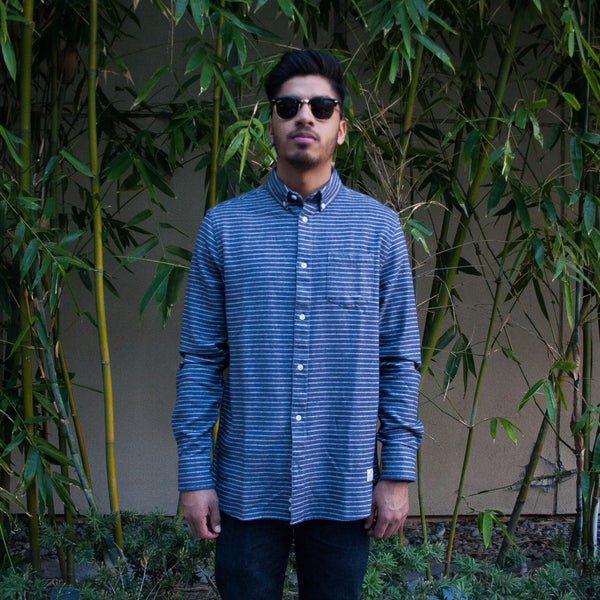 Canso Striped Flannel Blue