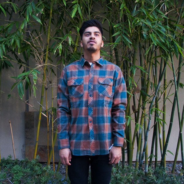 Vincent Flannel Brown/Green
