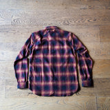 Crosscut Flannel Orange Ombre