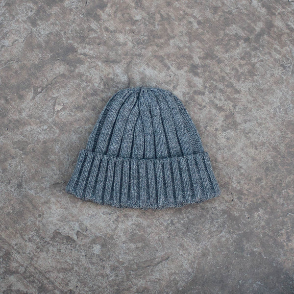 Watch Cap Grey Cable Knit