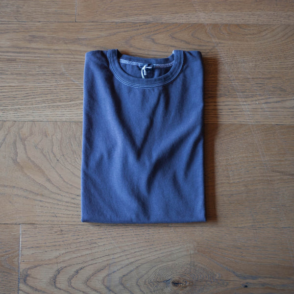 Garment Dyed Plain T-Shirt Purple