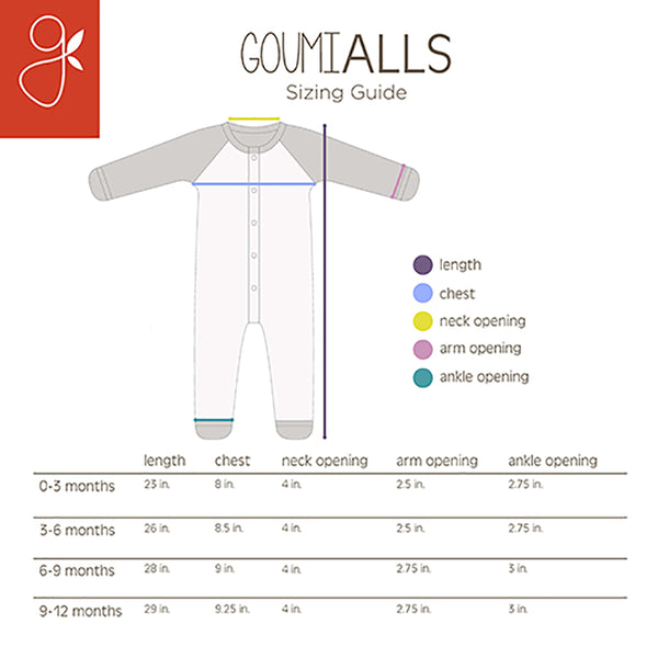 goumi alls sizing guide
